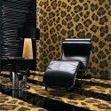floor rug and wall decoration with animal prints