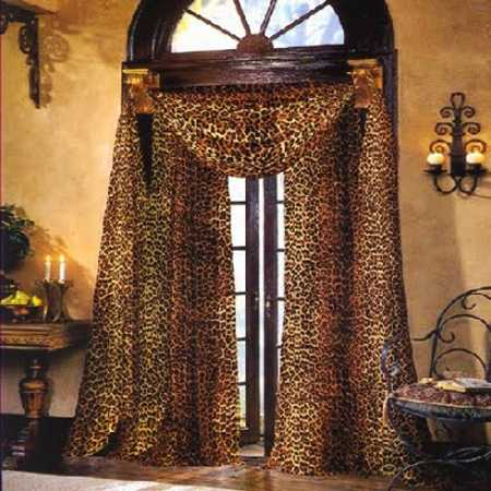 window curtain fabric with animal print