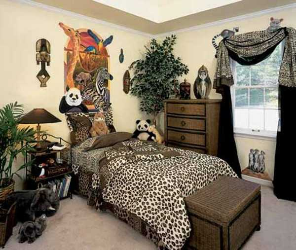 kids room decorating with animal prints