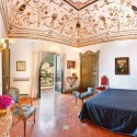 badroom decorating italian style, ceiling painting and floor tiles