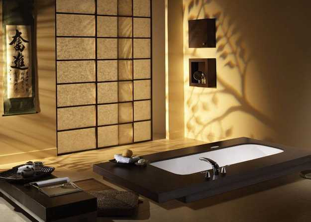 Elegant japanese bathroom decorating ideas in minimalist for Japanese home decorations