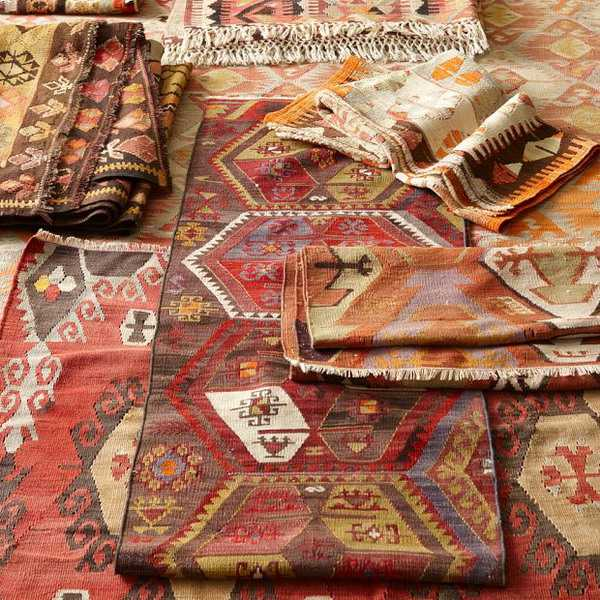 kilim floor rugs and decorative fabrics