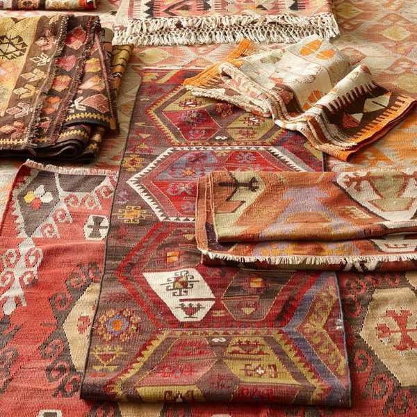 kilim floor rugs and decorative fabrics