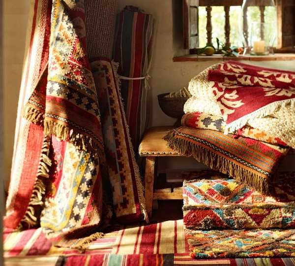 kilim floor rugs and home decorating fabrics