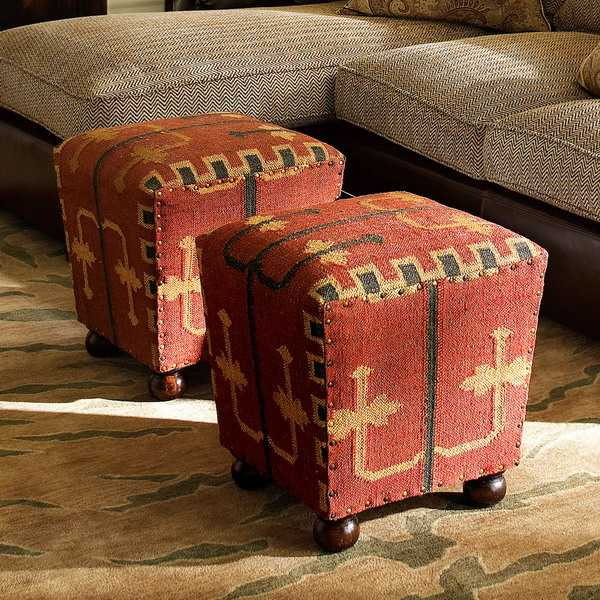 ottomans with kilim upholstery fabrics