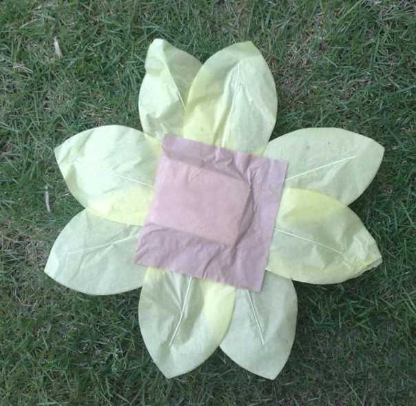 paper craft ideas, making paper flower floating light
