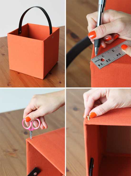 Kids Room Designs For Small Spaces: DIY Upholstered Storage Boxes, Recycle Crafts