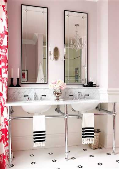 modern bathroom vanity with two sinks