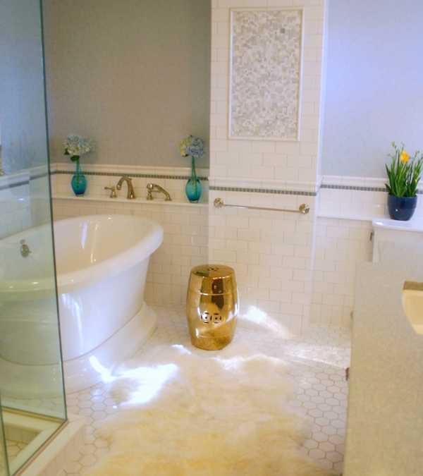 bathroom design in art deco style