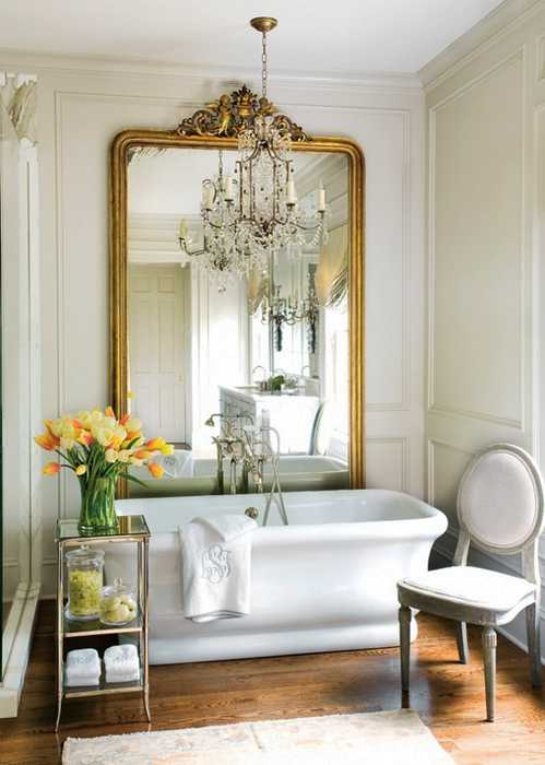 Colorful Bathroom Decorating with Flowers Adds Luxury to Large or