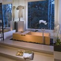 modern bathroom decorating with bathtub in japanese style