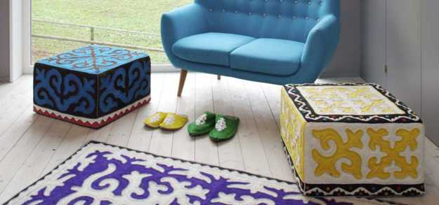 home accessories floor rugs ottomans made with felt fabrics