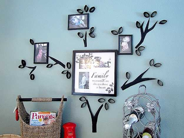 24 modern interior decorating ideas incorporating tree wall art for Interior wall decoration ideas