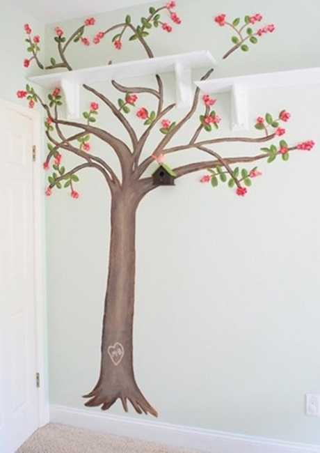 tree painting on wall