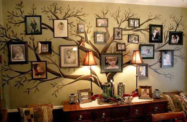Beautiful Tree With Photographs For Wall Decoration