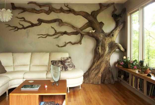 24 Modern Interior Decorating Ideas Incorporating Tree Wall Art