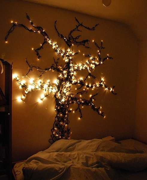 tree with led lights for bedroom decorating