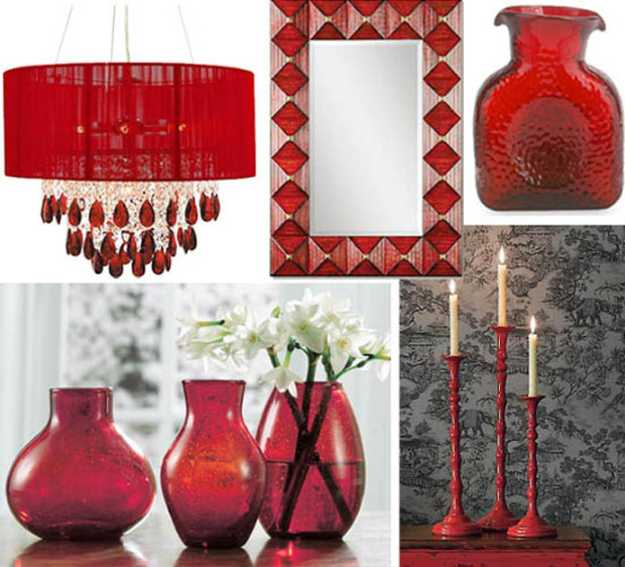 15 interior decorating ideas adding bright red color to for Small home decor items