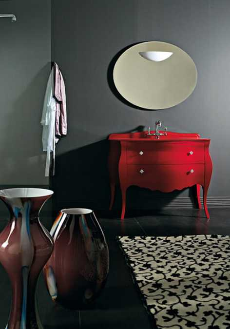 red paint for furniture decoration