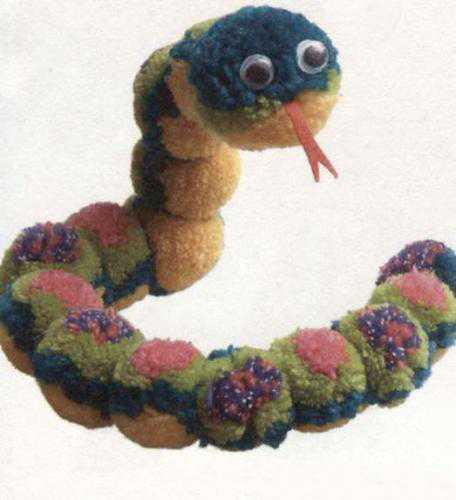 pompons snake