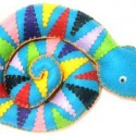 colorful snake of felt fabrics