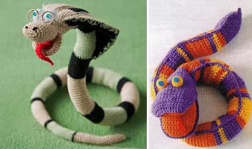 handmade snake, crafts for home textiles