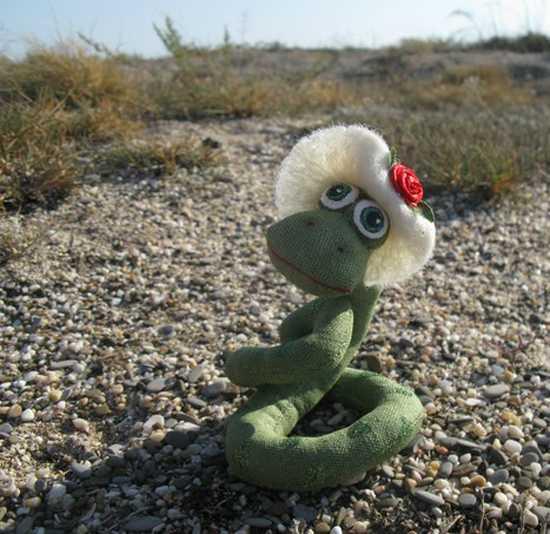 green snake, craft ideas