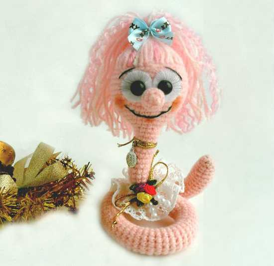 pink snake, craft ideas