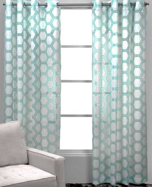window curtains with graphic pattern
