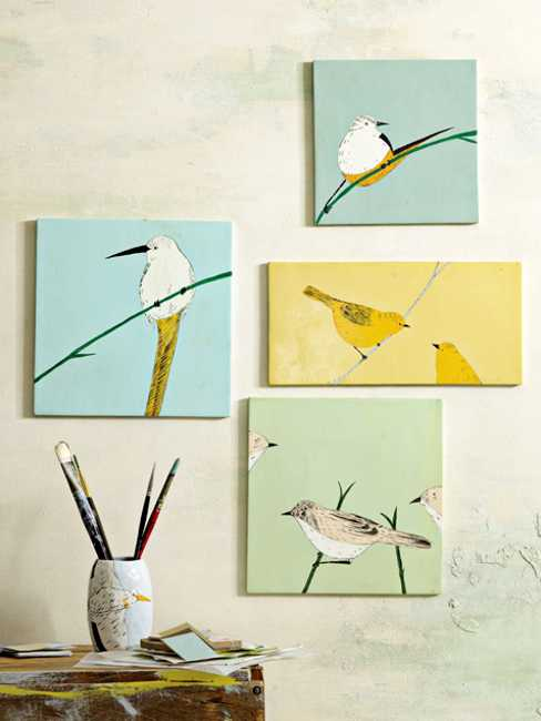 wall decorations with bird images