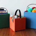 upholstered storage boxes and totes