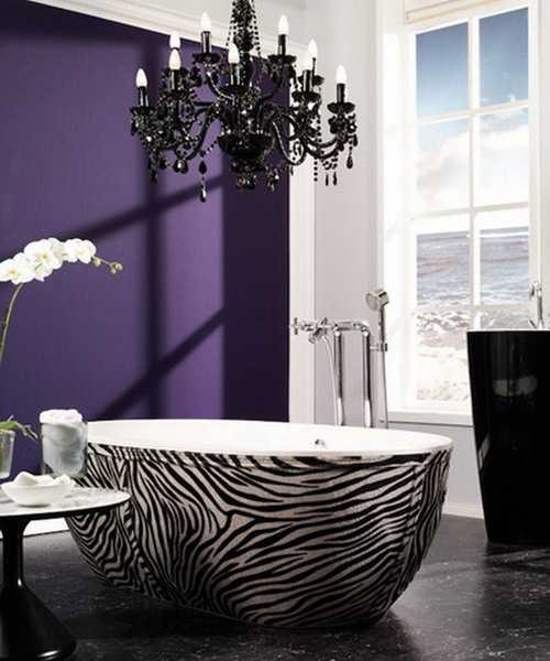 Zebra prints and decorative patterns for modern bathroom for Bathroom ideas zebra print