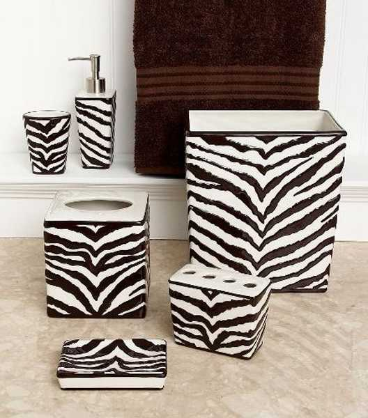 Zebra prints and decorative patterns for modern bathroom for Decoration zebre