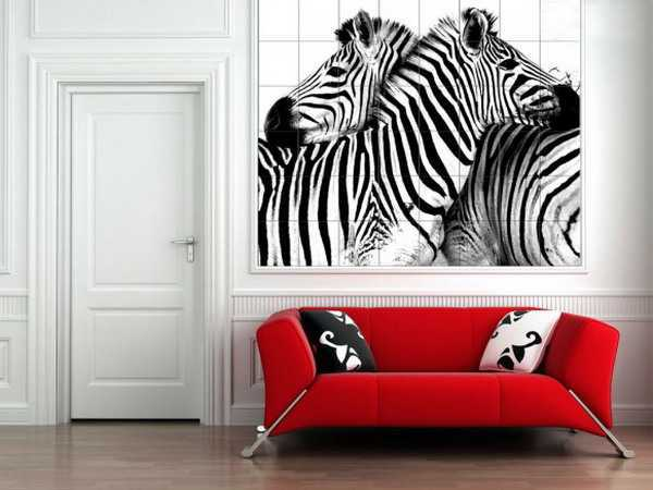 21 modern living room decorating ideas incorporating zebra for Zebra decorations for home