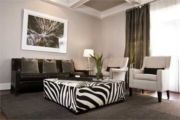 21 Modern Living Room Decorating Ideas Incorporating Zebra Prints Into Home D