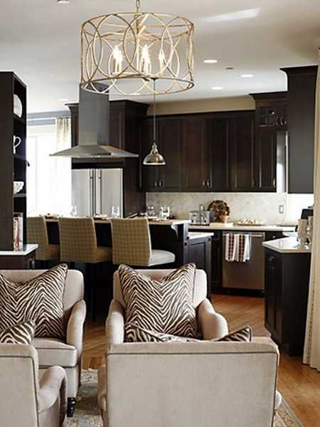 21 modern living room decorating ideas incorporating zebra for Brown zebra living room ideas