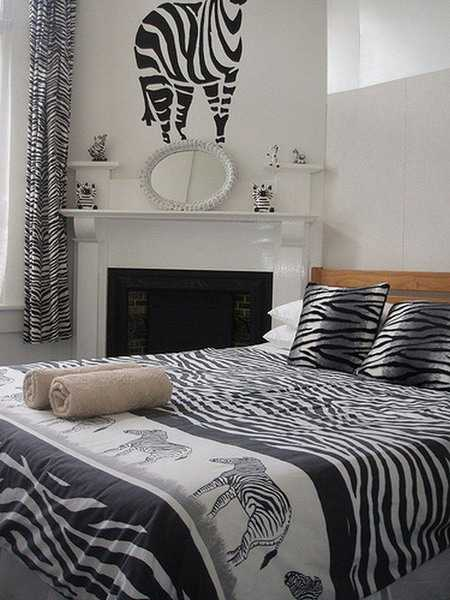 zebra bedding set in black and white