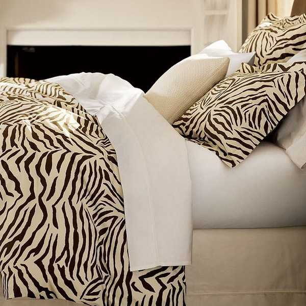 zebra prints and decoration patterns personalizing modern bedroom
