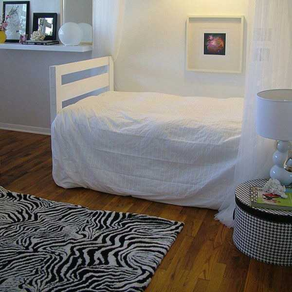 zebra floor rug for bedroom decorating
