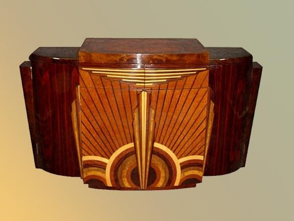 Art Deco Furniture Made Of Various Wood Types
