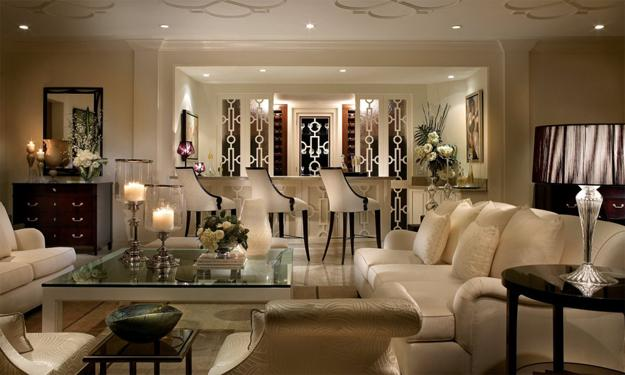 Art Deco furniture for modern interior decorating in light neutral color