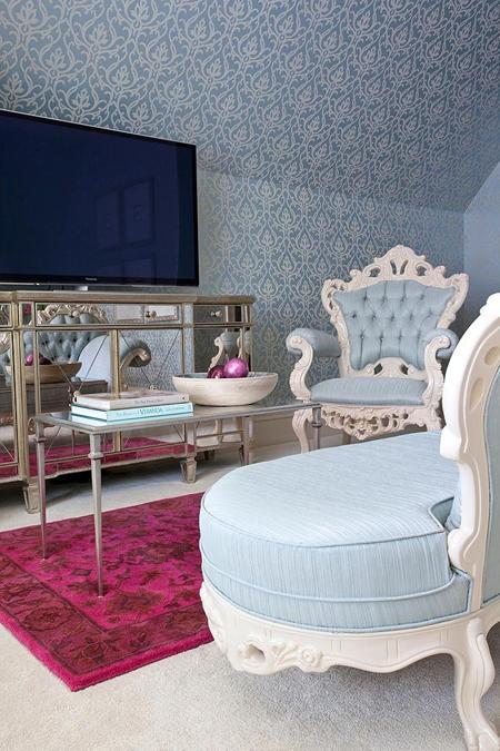 light blue and pink bedroom ideas images