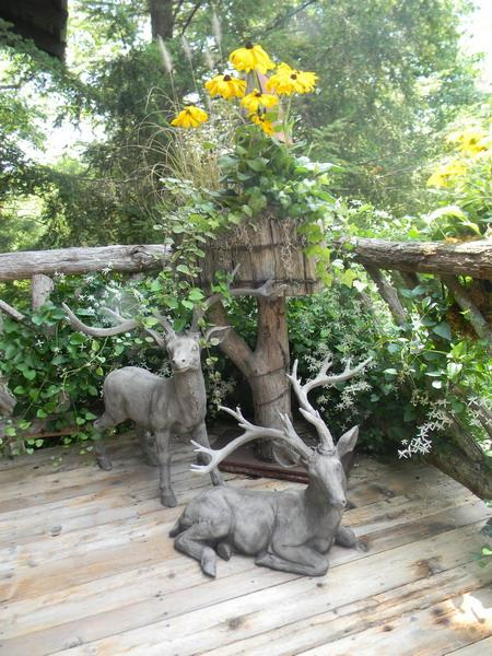 animal figurines for deck decorating