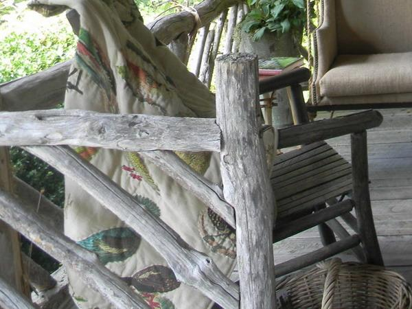 rustic wood railings