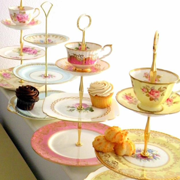 recycling tea cups for table decorations