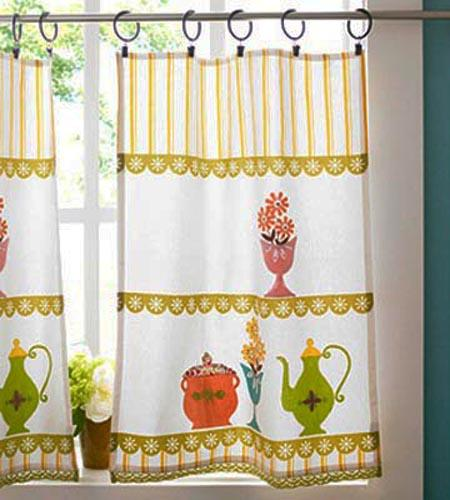 Country Style Kitchen Curtains In Bright Colors
