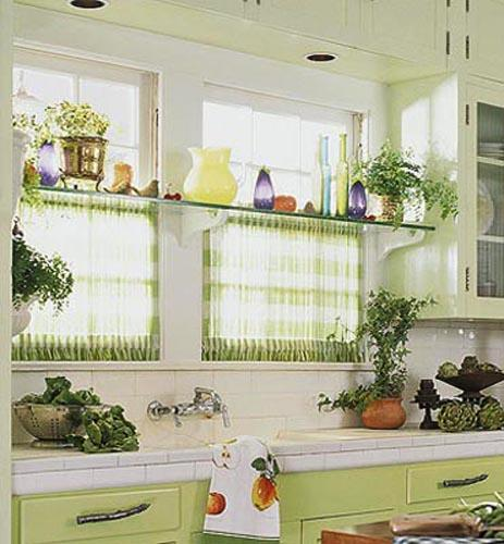 Kitchen Window Furnishings Ideas: Best Window Curtain Fabrics For Cool, Eco Friendly Summer