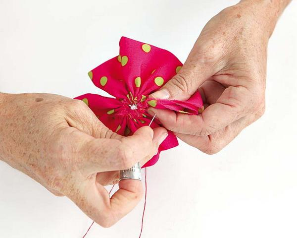 making fabric flower