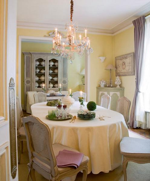22 french country decorating ideas for modern dining room for Dining room ideas decor