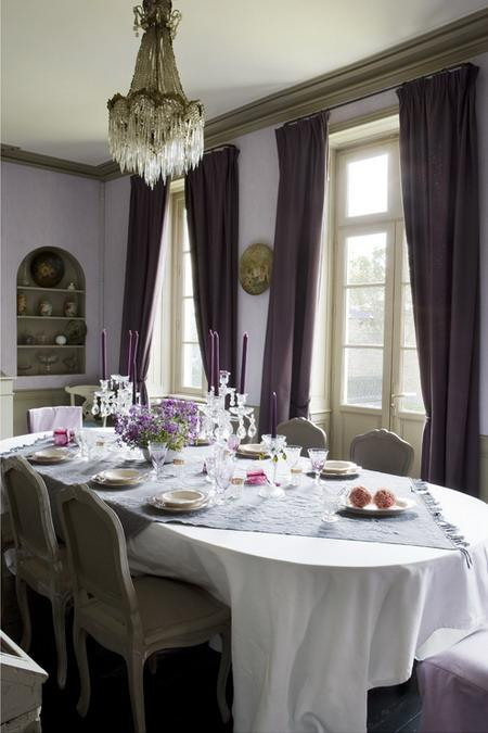 Purple Paint Colors >> 22 French Country Decorating Ideas for Modern Dining Room ...